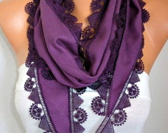 Purple Pashmina Scarf,Teacher Gift,Summer Scarf,Birthday gift, Wedding Scarf,cowl Scarf Gift Ideas for Her Women Fashion Accessories