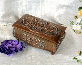 Personalized jewelry box Engraved wooden box Personalized ring box Personalized wedding box Engraved wood Personalized jewelry organizer B24