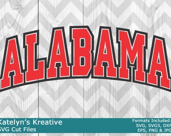 Alabama Arched SVG Files