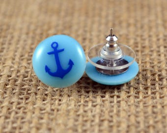 Anchor Candy Dot Earrings