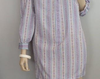 vintage 80s Secretary Dress Floral Tent babydoll mini Dress