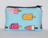 """Pipe Pouch, Ice Cream Pop Pouch, Glass Pipe Bag, Pipe Case, Padded Pipe Pouch, Pipe Cozy, Stoner Gift, 420, Cute Bag, Food Gifts,  - 4"""" MINI"""
