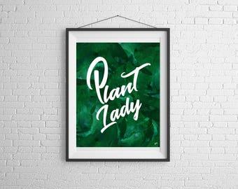 Plant Lady,Palm Leaf,Leaves,Wall Art,Art Prints,Word Art,Tropical,Green,Prints, Wall Art,Palm Leaf Print,Digital Prints,Words,Plant Lady Art