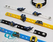 Boys Batman Bracelets for Party Favors or Gifts - Silicone bracelets with removable Charms
