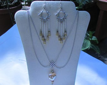 Celtic style necklace and earring set