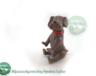 Vintage Poseable Pound Puppy Gray / Taupe Terrier 1980s Toy by Tonka