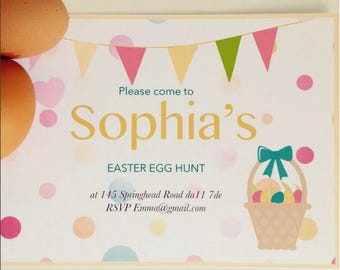 Easter Egg Hunt Invitations x5