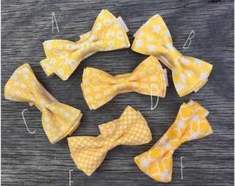 yellow bow tie mens, yellow bowtie, yellow bow tie boy, mens bow tie and pocket square, wedding bow tie, yellow floral bow tie, self tie bow