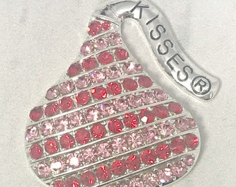 Hershey jewelry etsy 5038mm hershey kisses pendant red and pink kisses pendant rhinestone mozeypictures Choice Image