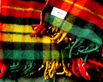 Fabulous Faribo Wool Blanket, Mint Condition, New Old Stock, Mint Condition, Made in USA