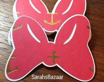 1 Count Red Anchor Bow