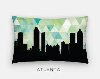 Atlanta skyline pillow | Atlanta home decor | geometric pillow | Georgia gift | geometric green pillow | Atlanta skyline pillow