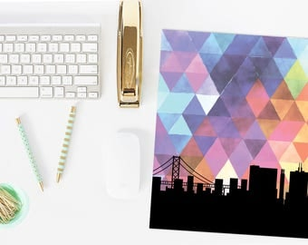 San Francisco skyline   San Francisco art print   San Francisco print   geometric art   San Francisco city art print   geometric decor
