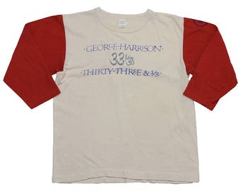 George Harrison Shirt Vintage tshirt 1976 I Was With GH At Thirty Three & 1/3 Concert Crew Tee 1970s Experimental Music Band Rock Pop