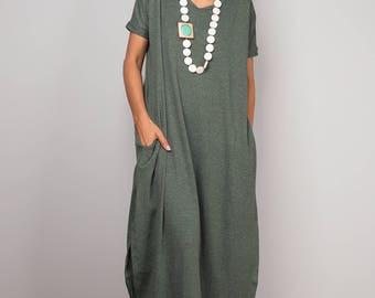 Green dress, a line dress, mid length green dress, short sleeved dress, green tube dress, blue maxi dress, split dress