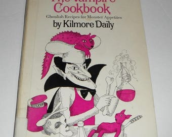 The Vampire Cookbook by Kimore Daily Vintage Softcover Ex-library book 1965