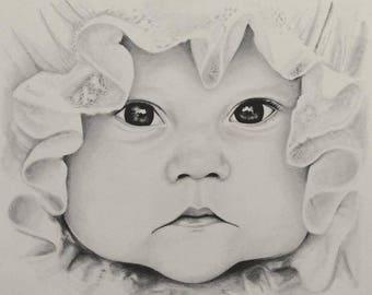 5x7 Custom Portrait Sketch-single subject