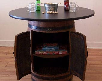Whiskey Barrel Double Door Cabinet Table C 42 Laminate Top FREE