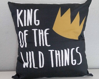 King of the Wild Things Pillow Cover, Nursery Decor, Baby Boy, Where the Wild Things Are, infant newborn, photography, forest imagine