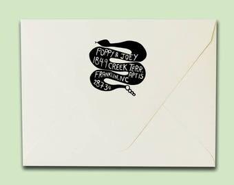 Snake Address Stamp