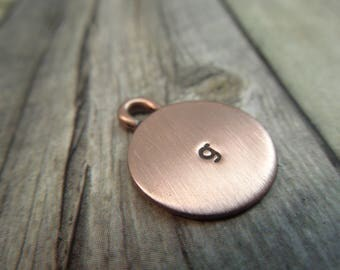 bailed copper initial charm