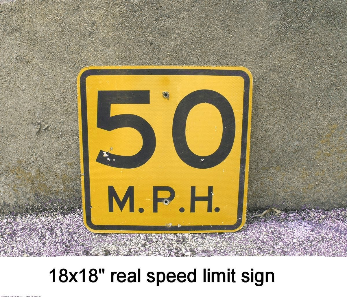 Road sign Speed Limit Sign 50th birthday party 50 Anniversary Gift ...