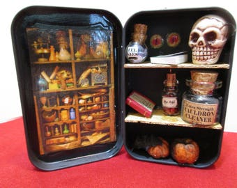 Miniature Apothecary Cabinet