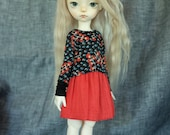 iMda 3.0 BJD linen skirt - red