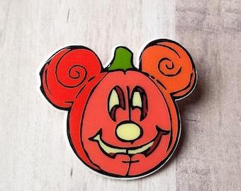 Halloween Mouse Ears Pumpkin Brooch