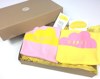 Gift Box - New Sibbling Welsh Gifts Cymraeg  Baby Kids T-shirt New Baby Christening Naming Day