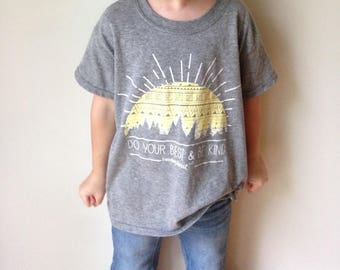 """Kids's """"Do Your Best & Be Kind"""" Shirt.  Hendersweet Sunshine T Shirt . YOUTH SIZES"""