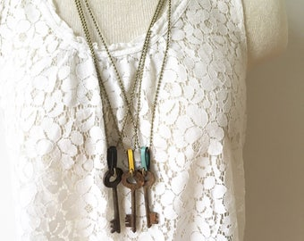 Long Skeleton Key Necklace. Choose Your Necklace.