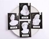 Sculpture - Journaling Spot Note - 4 designs - A set of 4 pcs