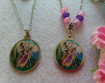 Rapunzel and Flynn  Necklace