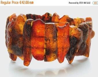 Midsummer sale Baltic Amber bracelet, black amber bracelet, raw, unpolished amber bracelet vegan, янтарный браслет, 琥珀手鍊, 琥珀ブレスレット, ambre, B