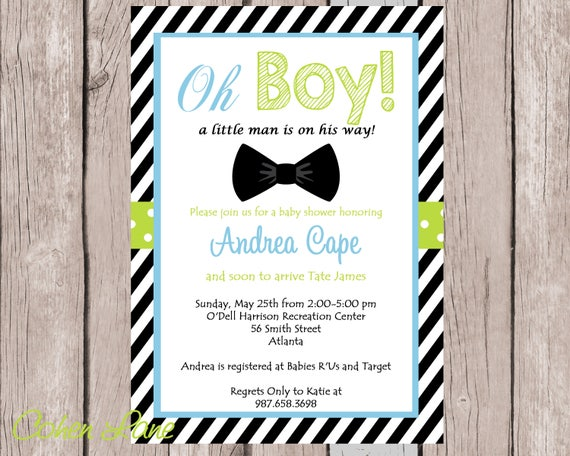 Baby shower invitation baby boy invitation bowtie invitation baby il570xn filmwisefo