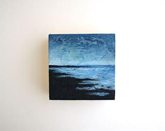 Maine Coast Oil Painting - 4 x 4