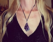 Amethyst Goddess Wire Wrapped Necklace