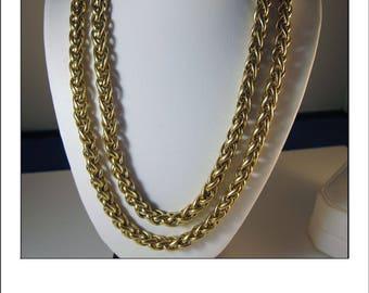 Fine Estate Heavy 18k 31 inch 62.2 Gram Wheat Chain - Gorgeous