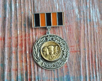 "Vintage Soviet Russian badge,pin.""60 Years of Soviet Army""."