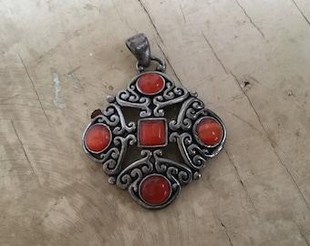 Vintage pendant, metal