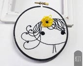 Hand Embroidery Kit | Clementine Flower Girl  Embroidery