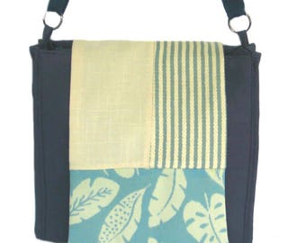 Vegan Handbag, Crossbody Bag, Shoulder Bag,Fabric Handbag,One of a Kind Handbag
