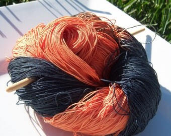 Lizbeth Tatting Thread -  Hand Dyed - Halloween Night - Size 20 - Your Choice of Length - HDT