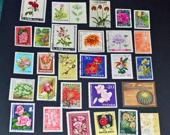 50 Flower and plant stamps from around the world some mint B116