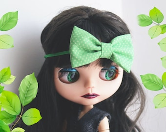 Blythe bow headband. Fashion Headbands, Blue Headbands, Prop, Photographer. Blythe clothes. Shabby chic bow, green bow
