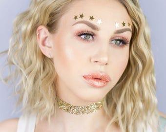 Gold Glitter Choker - Necklace