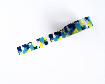blue + yellow washi tape