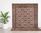 KIRAN 7x9.5 Hand Knotted Pakistani Wool Rug