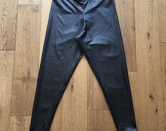 Matte Black PVC Leggings - 3 Lengths